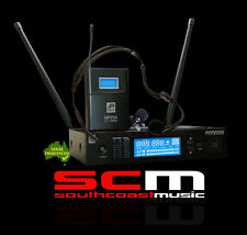 Professional Wireless System with Beltpack, Headset, Lapel Mic & Case AWM250BP