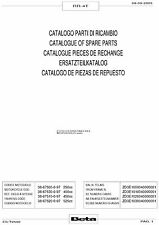 Beta Parts Manual Book Chassis & Engine 2005 & 2006 RR-4T 450 & RR-4T 525