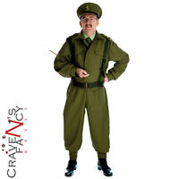 Mens 40s WW2 Home Guard Dads Army Costume Soldier Fancy Dress Uniform Outfit New