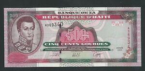 HAITI  500 GOURDES 2000 P- 270  UNC