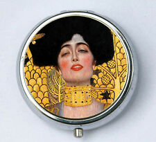Klimt Judith PiLL case pillbox pill holder Art Nouveau fine art painting