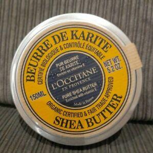 L'Occitane Pure Organic Shea Butter Tin 150ml NEW & SEALED EXPIRY 03/2022
