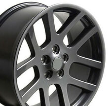 "22"" Wheels For Dodge Ram 1500 Dakota Durango Chrysler Aspen Gunmetal Rims Set 4"