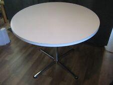 VINTAGE 70'S RETRO ROUND / CIRCULAR KITCHEN / DINING TABLE WHITE TOP CHROME BASE