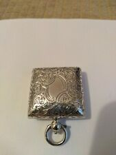 925 SOLID SILVER ANTIQUE SOVEREIGN CASE/HOLDER/FOB IN EXCELLENT CONDITION