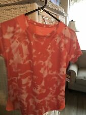 tek gear drytek small exercise shirt coral and white nwt small