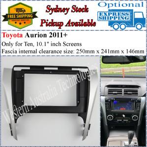 For 10 Ten Inch Screen Fascia facia Fits Toyota Aurion 2011+-