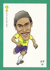 FOOTBALL - DUHZE POSTCARD OF CHINA - FOOTBALL WORLD CUP 2014  -  RONALDINHO