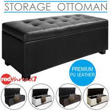 Leather Storage Ottomen
