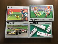 Game soft Famicom 『F1Race・tennis・soccer・4 person mar-jongg 』 from Japan ①