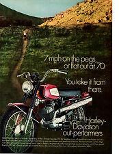 1970 HARLEY-DAVIDSON RAPIDO 125cc  ~  ORIGINAL PRINT AD