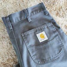 Jeans Carhartt bermuda Baggy Grigi Loose W30 Uomo vintage Hip Hop Skaters Shorts