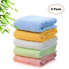 Kyapoo Bamboo Baby Washcloths Natural Face Towels Ultra Soft Hypoallergenic