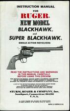 1981 Ruger New Model Super Blackhawk Pistol Revolver Original Owners Manual