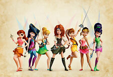 Tinkerbell And The Pirate Fairy A4 Poster Glossy Print
