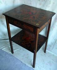 Frankreich Jugendstil Tisch Beistelltisch Holz Malerei Vögel art nouveau table