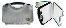 MONTANA FLY COMPANY WATERPROOF FLY CASE - CLEAR - LARGE SLIT FOAM - BOAT FLY BOX