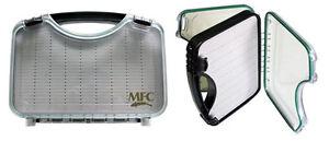 MONTANA FLY COMPANY WATERPROOF FLY CASE - CLEAR - LARGE SLIT FOAM - BOAT FLY BOX