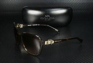 COACH HC8179 512013 Dark Tortoise Brown Gradient 58 mm Women's Sunglasses