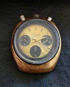 Vintage Citizen 67-9020 Bullhead Automatic Chronograph 23 JEWELS Brad Pitt VE