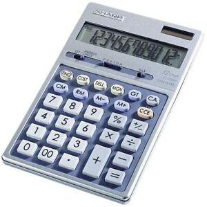 Sharp El339HB Desktop Handheld Display Calculator - 12 Digit - Free Shipping