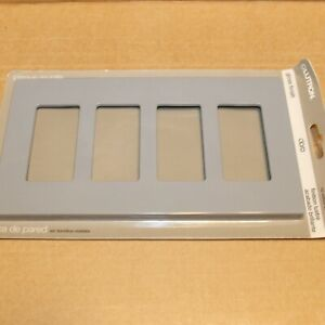 One Lutron CW-4-GR 4-Gang Claro Wall plate in Gloss Gray More Available
