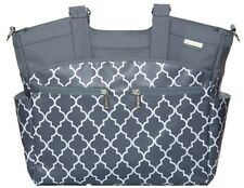 JJ Cole Camber Baby Diaper Bag Tote Stone Arbor w Changing Pad & Stroller Straps