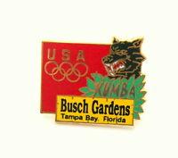 2 1990s USA Olympic Team Kumba Bush Gardens Tampa Bay Florida Pin NOS New