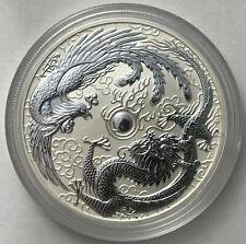 2017 ERROR Australian Dragon and Phoenix 1 oz .999 Silver Bullion Coin
