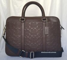 COACH PERRY LEATHER BRIEFCASE F72230 MAHOGANY BROWN METROPOLITAN COMMUTER BAG