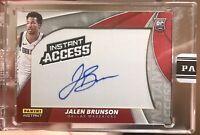 2018-19 Panini Instant Access Jalen Brunson Auto RC Rookie /10 Dallas Mavericks