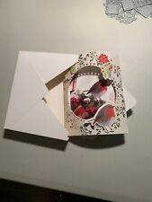 "Handmade Dome Christmas Cards - set of 8, different patterns, 4""x 6""x1"""