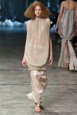 =EDGY= RICK OWENS Island Runway Beige Cocoon Back Ribbon Bow Bubble Dress US6