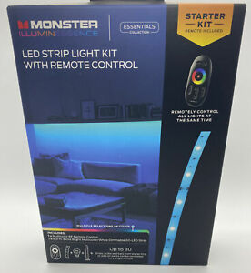NEW - Monster Illuminessence LED Strip Light Kit with Remote Control