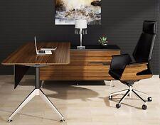 Novara Executive Desk in Stunning Zebrano Timber Veneer  3 Desktop Sizes Avail