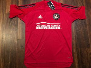 New Adidas Mens Atlanta United FC Soccer Jersey Size Small Red Black