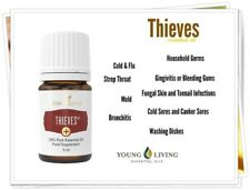 Young Living 100 % Pure Thieves Essential Oil Blend 5 ml Made in USA