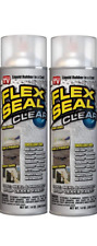 2 Pack Spray Sealant Flex Seal Rubber Coating Liquid Seals Wet Dry Areas Clear