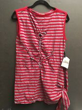 Jean Paul Gaultier for Target Red Gray Nautical Anchor Striped Top Sz Medium