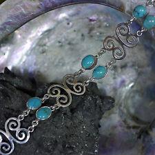 Echtschmuck-Armbänder aus Sterlingsilber mit Türkis-Hauptstein für Damen