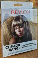 Revlon Clip Lok Bangs Long Straight Bangs Blendable Sides Frosted Wig Hair