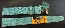 haute qualité Piel De Bœuf cuir véritable Bracelet montre 18 mm, turquoise NEUF