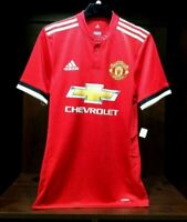Manchester United Home Authentic Soccer Jersey 2017/18 Red -Adidas Men's- BQ7278