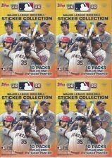 (4) 2020 Topps MLB Sticker Collection Baseball New Blaster Boxes = 160 Stickers