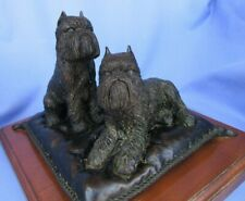 Bronze Brussels Griffon Dogs Limited Edition 1/350