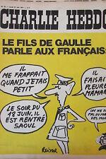 CHARLIE HEBDO No 31 de JUIN 1971 REISER LE FILS DE GAULLE PARLE AUX FRANCAIS