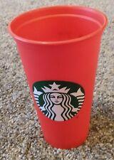 Starbucks Reusable Coffee Tea Cup Tumbler Red Travel 16 oz Plastic Mug Holiday