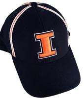 Illinois Fighting Illini Hat NCAA Chief Illiniwek Logo on back New cap U of I