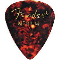 Fender 351 Shape Premium Classic Guitar Picks, Medium, Tortoise Shell (12-Pack)