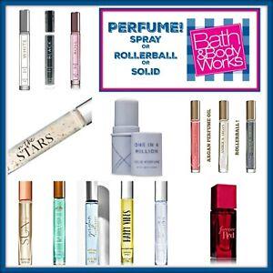 Bath Body Works Mini Purse Travel Perfume in Spray Solid or Rollerball U Choose!